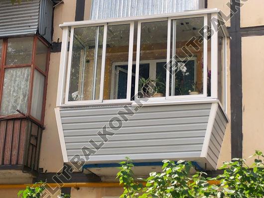 """Вынос балкона по полу в москве """"элит-балкон""""."""