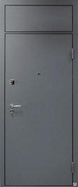 стальные двери с глухой фрамугой