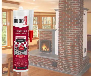 Термостойкий герметик для печей, каминов, дымоходов. Красный и черный!